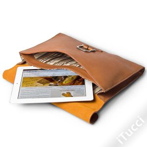 Toscanella Leather Document Holder and Laptop Bag
