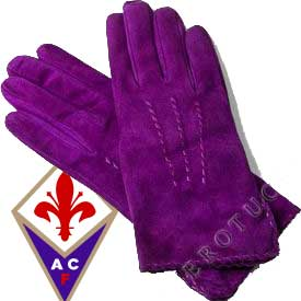 Purple Suede Leather Gloves with cashmere lining