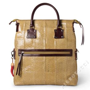 Fortunata Designer Handbag in Fish Leather