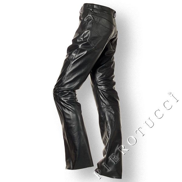 Pierotucci Italian Leather Pants, style high rise