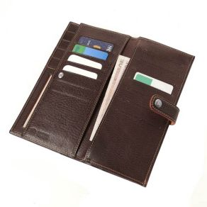 Toscanella Italian Leather Credit Card Wallet with strap closure