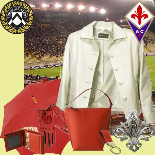 Fiorentina Viola Fans dress in Pierotucci Leather