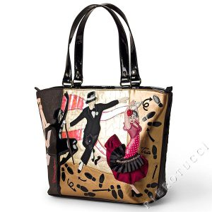 Braccialini Designer Handbag with dancing motif