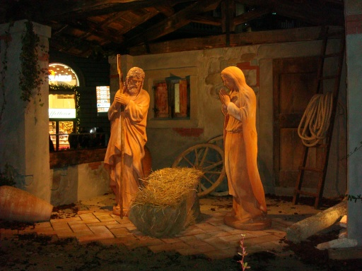 Nativity Scene in Florence Italy