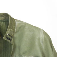 Light green ladies jacket in leather