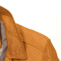 Burnt Yellow leather for mens jacket