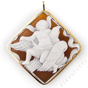 Cameo Brooch with the story of the Eagle and Ganymede