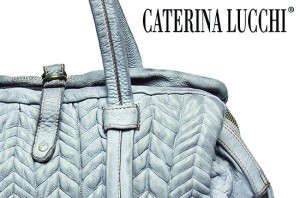 Caterina Lucchi pastel colored genuine leather handbags