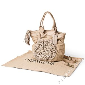 Caterina Lucchi Shoulder Tote in washed leather