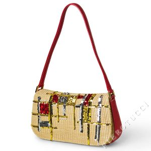 Designer Handbag for 2012 Collection with sequin and leather accents