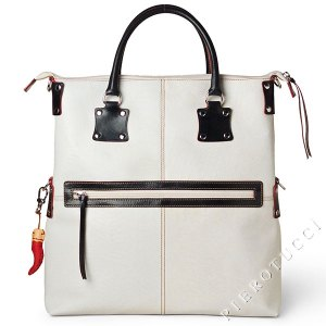 Fortunata Tote, Designer Handbag in color Bright White