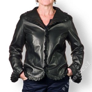 Leather lace jacket from Pierotucci
