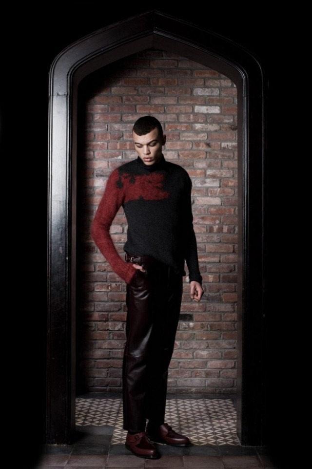 dominic louis fall winter 2012 leather pants