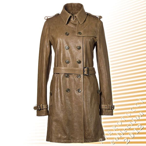 Ladies Italian Leather Trench