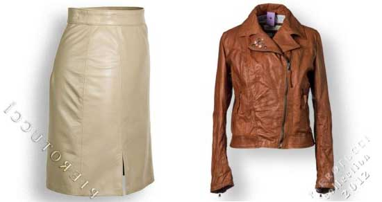 mini skirt in washed leather