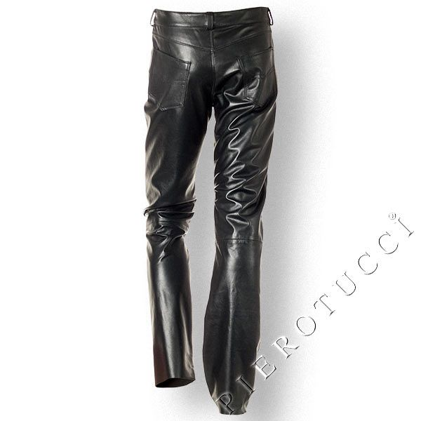 Pierotucci Italian Leather Pants style highrise