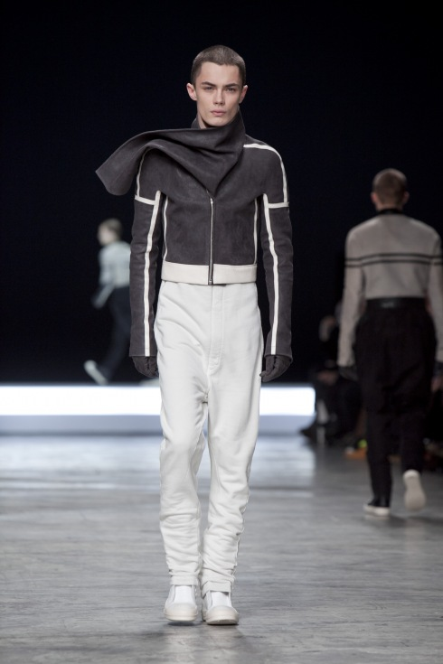 Rick Owens uses gray and white leather