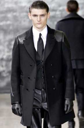 YSL leather accents on clothing for 2012
