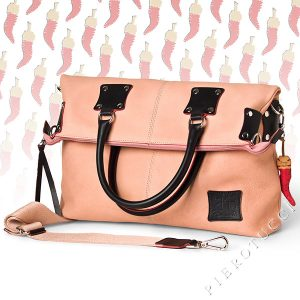 Fortunata Leather Handbag with Lucky Charm from Florence Italy