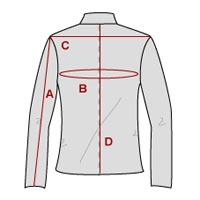 Leather Jacket Measurements from Pierotucci