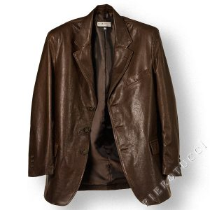 Pierotucci Genuine Itailan Leather Mens Blazer for full figures