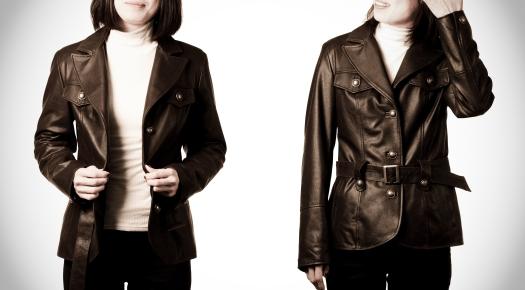 Italian Leather Blazer from Pierotucci