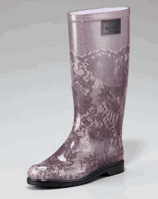 Valentino Rain Boots with Lace motif