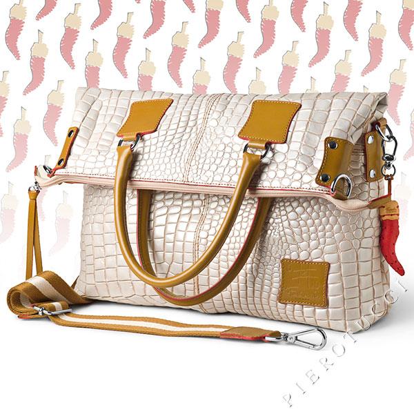 Faux alligator skin in a designer Italian leather purse from Pierotucci in Italy