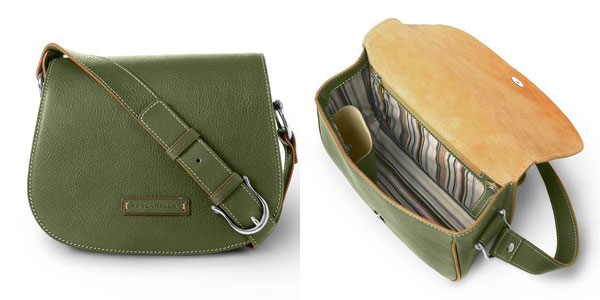 Toscanella Green Leather Handbag