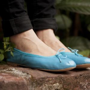 Blue Ballerina Flats