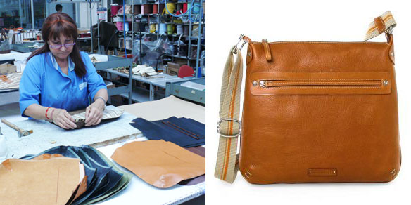 Toscanella Italian Leather Messenger Bag