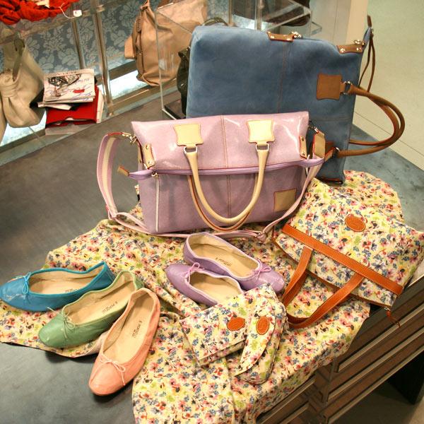 Porselli ballet flats, Fortunata tote bag and Campo dei Fiori printed leather
