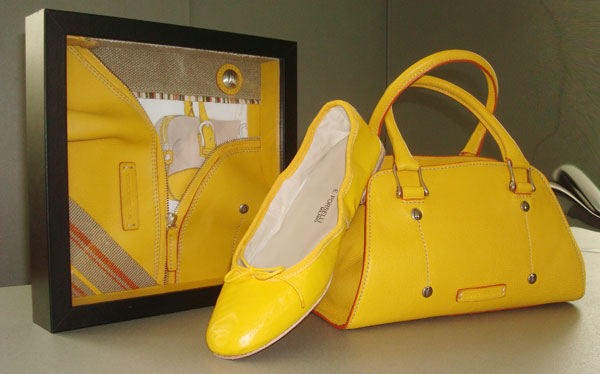 Toscanella Italian leather handbags and blackeye susan yellow