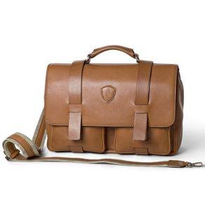 Tucci Men's Italian natural calf leather briefcase