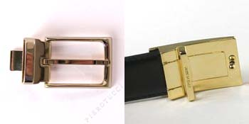 Italian leather reversible belts