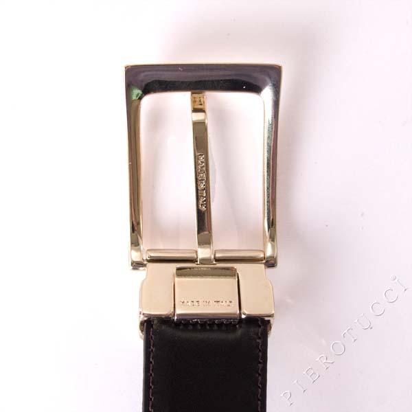 Italian leather reversible belt