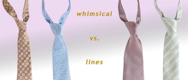 Italian designer silk ties
