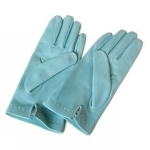 Silk lined gloves in light blue, black, red, brown and pistacchio green