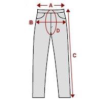 Important measurements for Leather Pants
