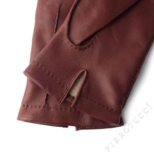 palm vent on Italian leather gloves with cashmere lining