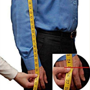 Sleeve measurement for a perfect fit leather jacket