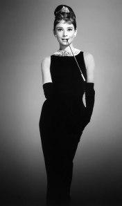 Black leather gloves, etichette and Audrey Hepburn