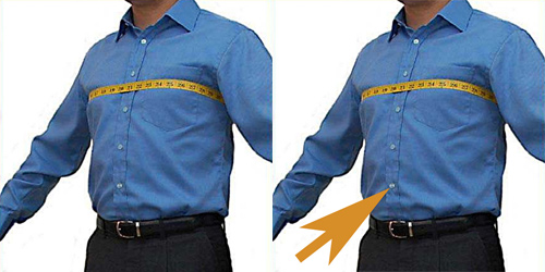 chest and waist measurements for leather garments