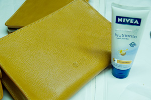 Neutral body cream is an excellent leather cleaner