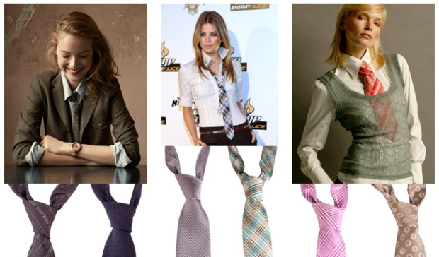 Italian silk ties for men  . . .and women?
