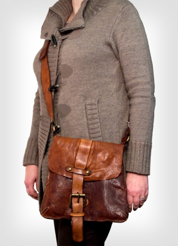 Campomaggi Cross Body Messenger Bag in Cognac