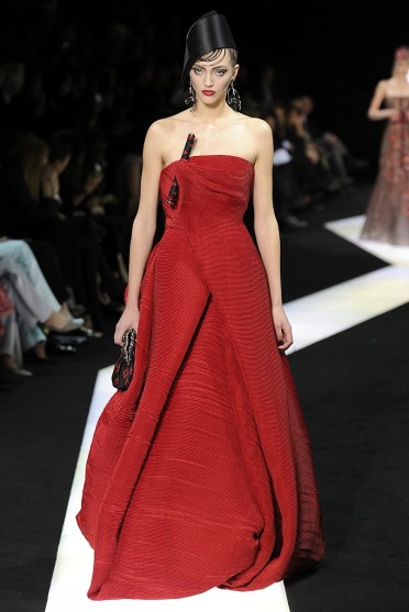 Armani Prive S 2013 showing red