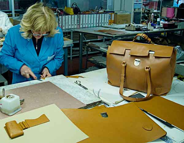 customized Italian leather handbag