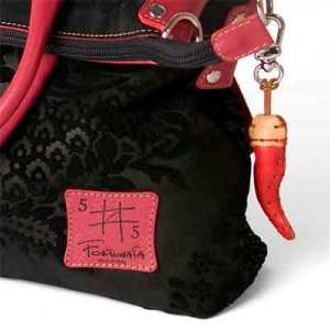 Fortunata designer leather handbag with chili pepper