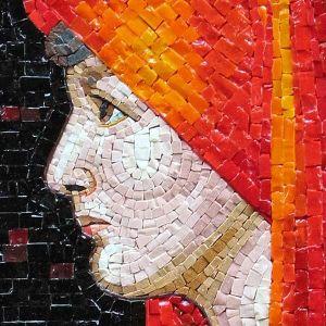 Murano glass mosaic artwork of Christian saint in Rome